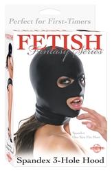 Fetish Fantasy Series Spandex 3 Hole Hood