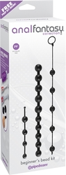Anal Fantasy Collection Beginners Bead Kit - Black