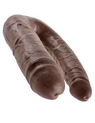 King Cock Double Trouble - Large - Brown