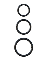 Fantasy C-Ringz Silicone Ring Stamina Set - Black