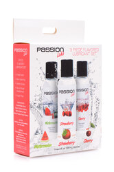Passion Licks 3 Piece Flavored Lube Set