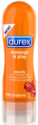 Durex Massage & Play 2 in 1 Intensify Guarana - 6.76 Fl. Oz. / 200 ml