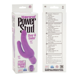 Waterproof Power Stud Over and Under Dong - Purple
