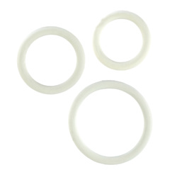 Rubber Ring 3 Piece Set - White