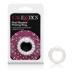 Pearl Beaded Prolong Rings - White