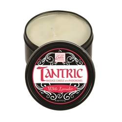 Tantric Soy Massage Candle With Pheromones White 4 Oz - Lavender