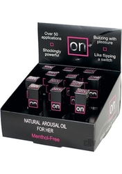On Natural Arousal Oil Original 12 Pieces Display - 0.17 Fl. Oz. Bottles