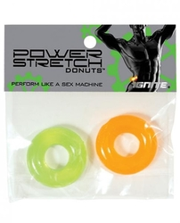 Power Stretch Donuts - 2 Pack - Orange and Green