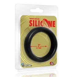 Wide Silicone Donut - Black - 2-Inch Diameter