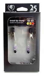 Beaded Clamps - Adjustable Broad Tip - Purple