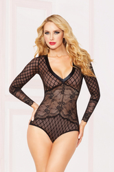 Lam Trim Bodysuit - Large - Black
