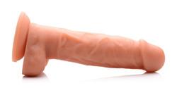 Power Pecker 7 Inch Silicone Dildo With Balls - Flesh