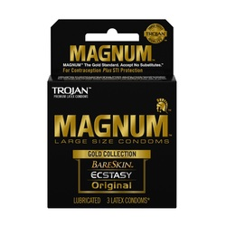 Trojan Magnum Large Size Gold Collection Condoms - 3 Pack