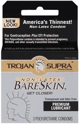 Trojan Supra Bareskin Polyurethane - 3 Pack