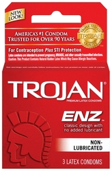 Trojan Enz Non-Lubricated Condoms - 3 Pack