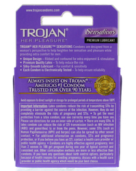 Trojan Her Pleasure Sensations Lubricated  Condoms - 3 Pack