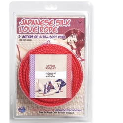 Japanese Silk Love Rope - 3m/ 10 Ft - Red