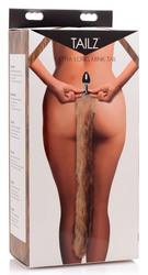 Extra Long Mink Tail Metal Anal Plug