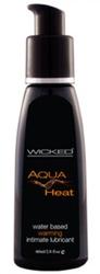 Aqua Heat Water Based Warming Senstion  Lubricant 2 Oz.