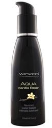 Aqua Vanilla Bean Water-Based Lubricant - 4 Oz.