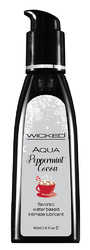 Aqua Peppermint Cocoa Flavored Water-Based Intimate Lubricant - 12 Piece Display 2 Oz.