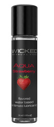 Aqua Strawberry Water-Based Lubricant 1 Oz