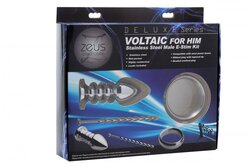 Deluxe Series Voltaic for Him Stainless Steel  Male E-Stim Kit