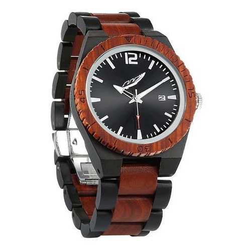 Men Personalized Engrave Ebony & Rosewood Watches - Free Custom Engraving