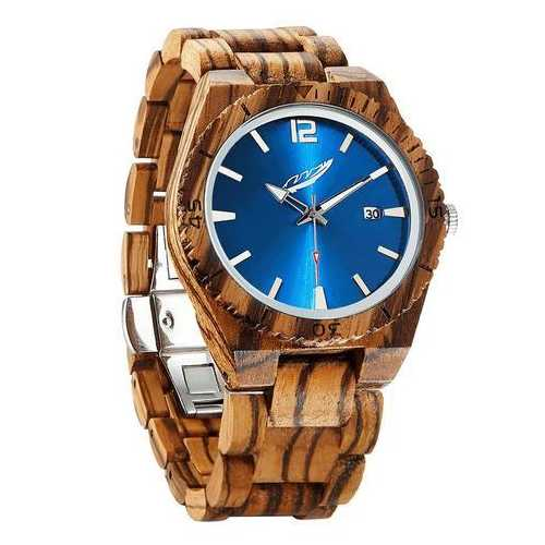 Men Personalized Engrave Zebrawood Watches - Free Custom Engraving