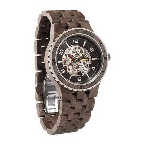 Men Premium Self-Winding Transparent Body Walnut Wood Watches