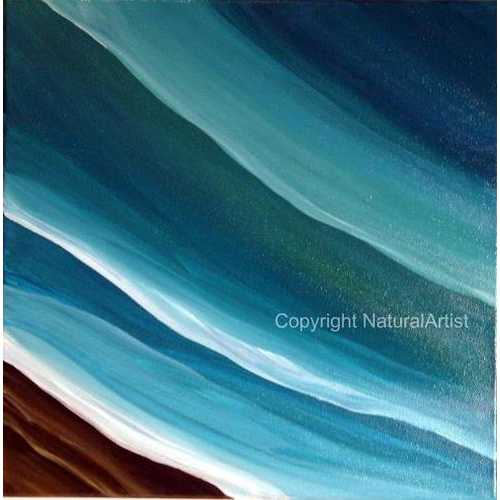 Blue Green Sea Painting - Natural Artist