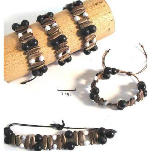 Job's Tears & Acacia Rainforest Seed Bracelet - Natural Artist