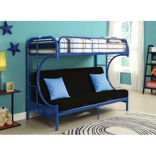 Eclipse Twin XL/Queen/Futon Bunk Bed, Blue