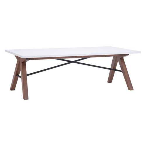 Coffee Table - MDF Metal, Rubberwood