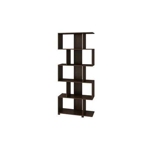 Accentuations by Manhattan Comfort Charming Petrolina Z- Shelf with 5 shelves in Tobacco