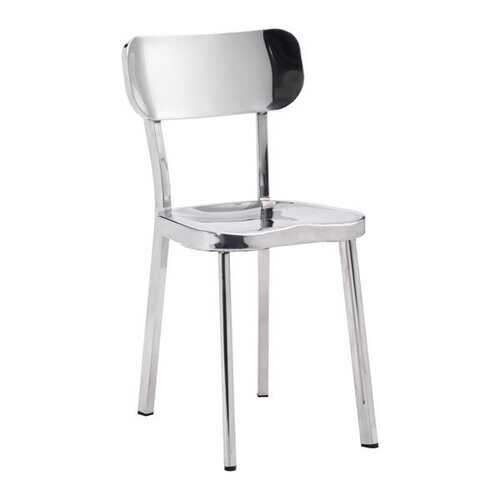 """15.6"""" X 17.3"""" X 30.9"""" 2 Pcs Stainless Steel Chair"""
