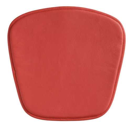 "17"" X 17"" X 0.5"" Red Leatherette Wire Mesh Chair Cushion"