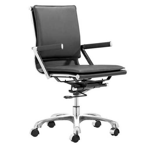 """19"""" X 24"""" X 39.5"""" Black Leatherette Office Chair"""