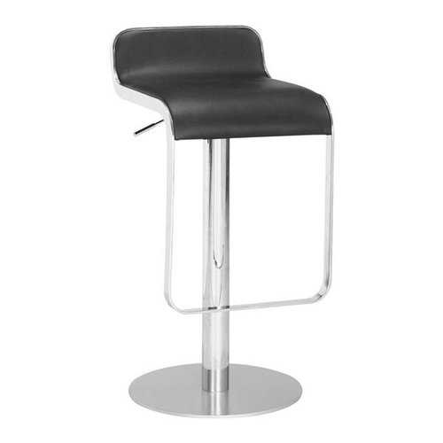 """17.7"""" X 17.7"""" X 18.5"""" Beige And Stainless Polyester Stool"""