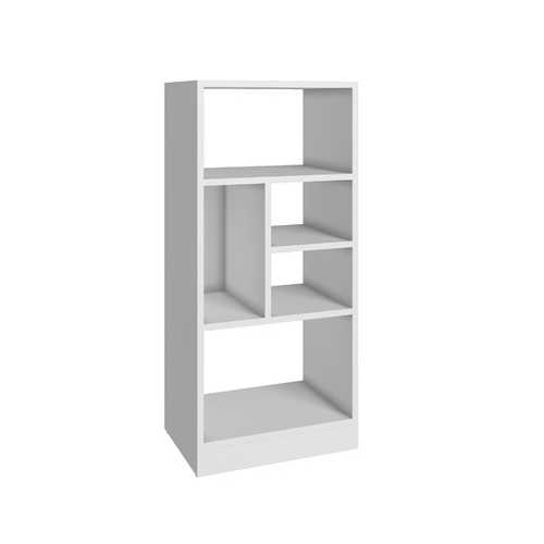 Durable Bookcase With 5- Shelves In White