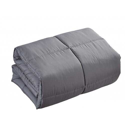 "Polyester Medium Warmth Down Alternative Comforter Duvet Insert California King/Eastern King (104"" x 88"", Grey)"