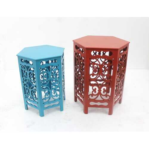 Multi-Color Traditional Style Tea Table Set