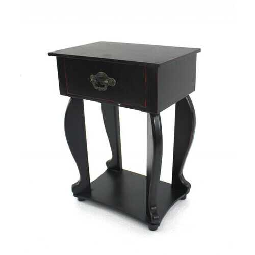 """13.75"""" X 6.75"""" X 10"""" Black Traditional Style Tabletop Organizer With One Drawer"""