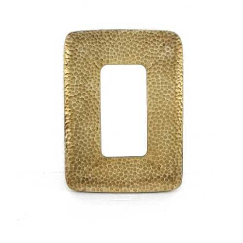 "1.75"" X 27.5"" X 20"" Gold Coastal Style Cobbly Cosmetic Mirror"