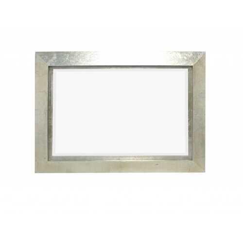 "2.25"" X 34"" X 36"" Silver Contemporary Rectangular Cosmetic Mirror"