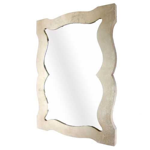"1.5"" X 40"" X 30"" Silver Traditional Cosmetic Mirror With Gold Wooden Frame"