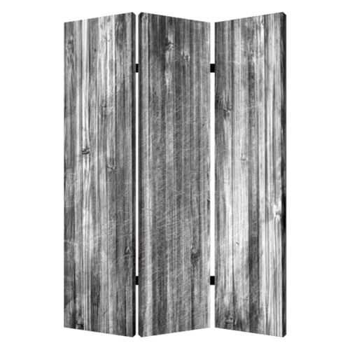 """48"""" X 72"""" Multi-Color Distressed Wood Canvas Screen"""