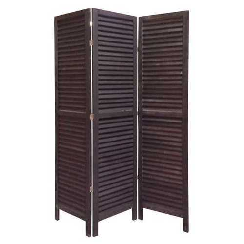 "1"" x 48"" x 67"" Black, Wood, Shutter - Screen"