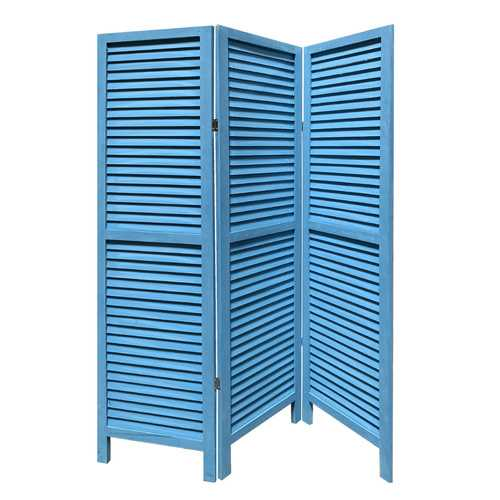 "1"" x 48"" x 67"" Blue, Wood, Shutter - Screen"