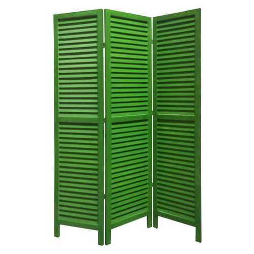 "1"" x 48"" x 67"" Green, Wood, Shutter -Screen"